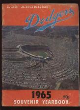 1965 Los Angeles Dodgers Yearbook VG