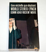 THEE MICHELLE GUN ELEPHANT WORLD STEREO LYNCH DOWN LOAD ROCKIN' MOVIE VHS JAPAN