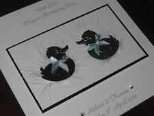 Personalised Handmade New Twins/Twins' Christening Card