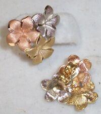 Hawaiian Multi Color Plumeria Flower 14K Gold Earring Jewelry Yellow Pink White