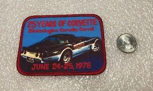 Bloomington Illinois Corvette Coral Corral 25 Years of Corvette Patch C1978