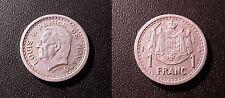 Louis II - Monaco - 1 franc aluminium 1943