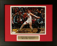 Tyler Herro Autographed Miami Heat Signed Basketball 8x10 Framed Photo JSA COA