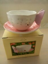 Lenox Butterfly Meadow Pink Cup and Saucer Set, Brand New In Box, Excellent