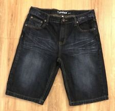Flypaper Boys 20 Severely Selected Jean Shorts Cotton Distressed Whiskers Blue