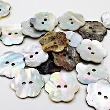 FLOWER BUTTON Lot 25 36L 23mm Real Pearl Shell Crafts Project Sewing scrapbook