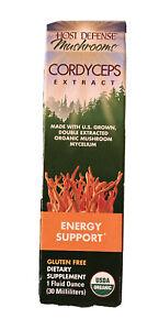 Host Defense Mushrooms Cordyceps Extract Energy Support 1 fl oz EXP 01/2023