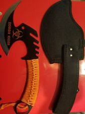 Apocalypse ZOMBIE KILLER Skullsplitter Steel Throwing Axe Hatchet Orange