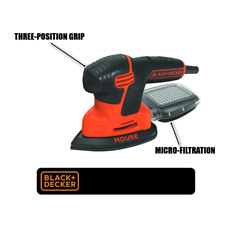 Mouse Sander 1.2 Amp Corded Compact Sander with Dust Collection