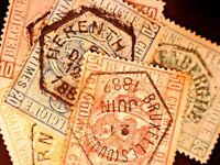 CatalinaStamps: Belgium Railway Stamp #Q1-5 1879-82 Used, SCV=$100, Lot #A63-4