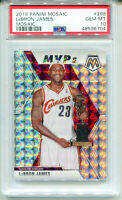 LEBRON JAMES 2019-20 Panini Mosaic Reactive Silver Prizm #298 SP PSA 10 Gem Mint
