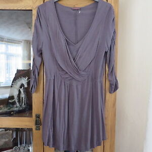 Wrap, Grey crossover front Minidress size 12, immaculate
