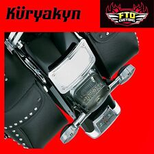 Kuryakyn Chrome Curved Laydown License Plate Mount with Frame 9171