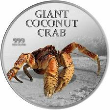 Pitcairn Islands 2013 $2 Giant Coconut Crab 1 Oz Silver Proof Coin with Scent