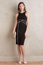 Anthropologie Cavatina Sheath Sz 10, Little Black Dress Slim Silhouette By Maeve