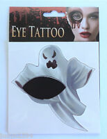 HALLOWEEN FACE EYE TEMPORARY TATTOO GHOST HORROR COSTUME ACCESSORY
