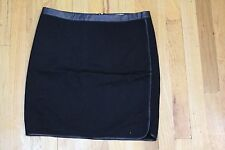 BODY CENTRAL BLACK SKIRT WITH FAUX LEATHER DETAIL SIZE LARGE NEW WITHOUT TAGS