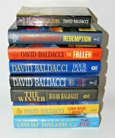 Lot of 8 DAVID BALDACCI Books HARDCOVER RANDOM The Fix Hour Game Redemption Evil