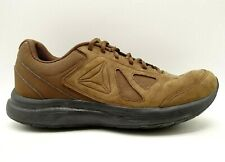 Reebok Brown Leather Lace Up Athletic Sport Running Shoes Men's 10.5