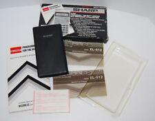 SHARP Scientific Calculator Model EL-512 EL-512-T W/ Box & Manual