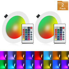 10W 16 Color RGB LED Recessed Ceiling Panel Down Lights Lamp+ IR Remote Control