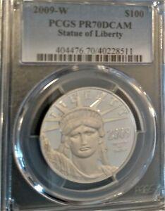 2009-W $100 Statue of Liberty PCGS PR70 PROOF PLATINUM EAGLE