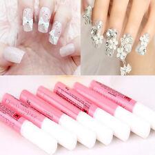 5PCS Professional Nail False Art Glue Tips Glitter Beauty For Acrylic Decor 2g