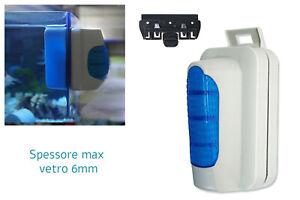 Pulitore vetri magnetico acquario 6mm galleggiante doppia spazzola raschietto