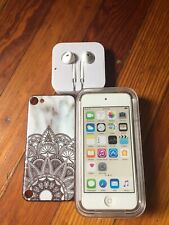 Apple iPod MKH02LL/itouch 6th Generation Gold (16GB)Scratches (No charger)Bundle