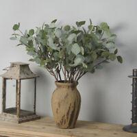 Artificial Silk Leaf Eucalyptus Green Plant Flowers Garland Wedding Home Decor
