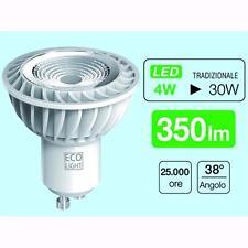 Lampadine led ecolight spot gu10 4 watt luce calda  Conf. 10 Pz