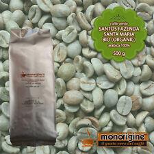 Caffè Verde Arabica Biologico in grani Santos Santa Maria BIO Organic 500 gr