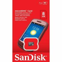 SanDisk® microSDHC™ 8GB Memory Card Class 4 Micro SD SDHC Mobile Phone Tablet