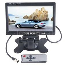 "7"" TFT LCD Color 2 Video Input DVD VCR Monit Car Rear View Headrest Monitor Q7I6"