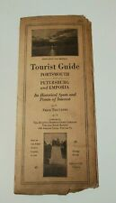 Vintage Travel Brochure 1921 Virginia Tourist Gude & Map Advertising Antique