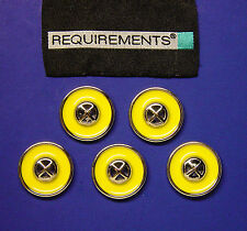 """From VTG REQUIREMENTS 5 YELLOW ENAMEL SEW THRU BUTTONS FOR DIY PROJECT 23MM 7/8"""""""