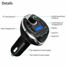 Black Car Bluetooth FM Transmitter MP3 Adapter USB Charger Replacement Wireless