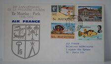 LETTRE AIR FRANCE ILE MAURICE PARIS 25éme ANNIVERSAIRE LIAISON 1970