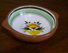Vintage Stangl small lugged bowl in FLORETTE pattern Artist signed