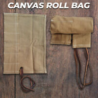 Canvas Travel 6 Pocket Watch Roll, Canvas Storage Watch Roll, Watch Holder Gift