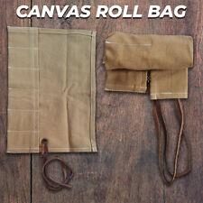 Canvas Travel 6 Pocket Watch Roll, Canvas Storage Watch Roll, Watch Holder Gift