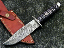 """Authentic HAND FORGED DAMASCUS 10"""" HUNTING KNIFE- HARD WOOD HANDLE - WD-8290"""