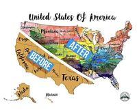 Usa Scratch Off Travel Map 24 X 16 Decorative Art Wall Poster