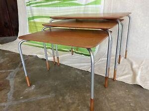 Danish Modern Teak Nesting Side Tables Style of Arne Vodder Rudolf Glatzel