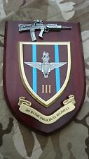 3 bn Parachute Regiment Military Wall Plaque + Pewter SA80