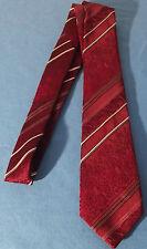 """Cravate bordeaux à motifs rouge, bande blanche et grise """" FIBRE cravate de luxe"""""""