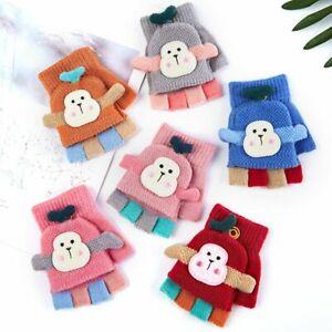 Half Finger Gloves Knitted Gloves Winter Warm Mittens Kids Fingerless  Gloves