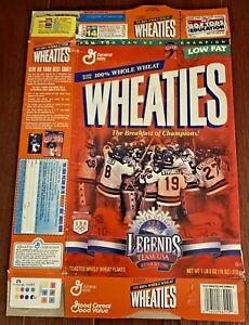 1997 Wheaties Cereal Ice Hockey 1980 Team USA Winter Olympics Legends
