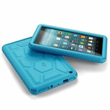 For Amazon Fire 7 Rugged Case Poetic TurtleSkin Shockproof Silicone Cover Blue