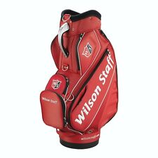 Wilson Red Staff Tour Bag w/ 6 Club Compartments & Multiple Rain Covers (LQQK)